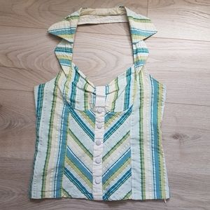 Collared Halter Top